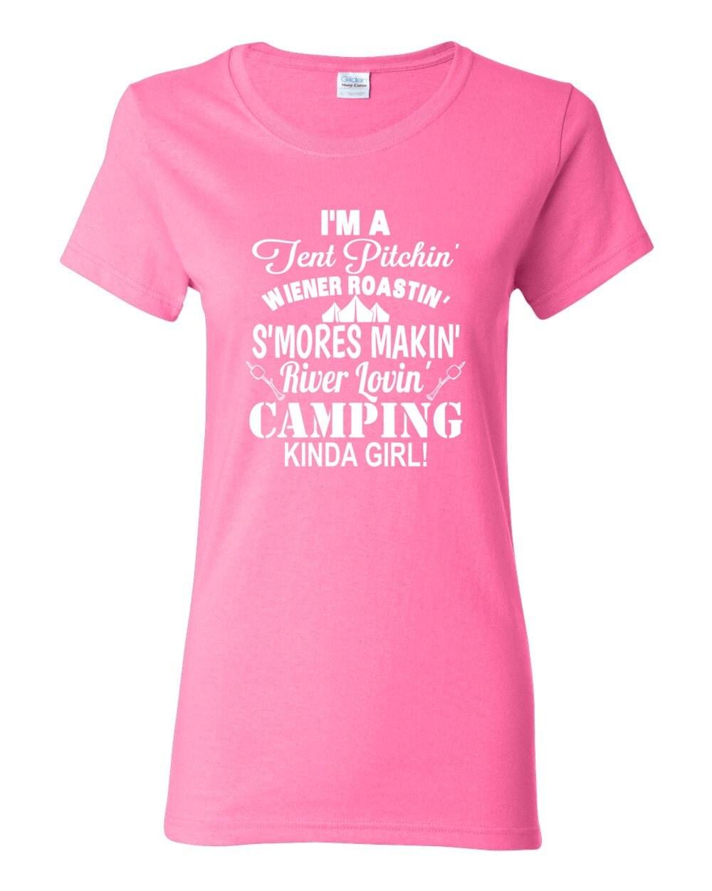 Camping T-shirt River Lovin' Edition - Camping Kinda Girl Womens Camping T-shirt