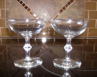 10% OFF Pair of 1950's Champagne Glasses  Mad Men Era