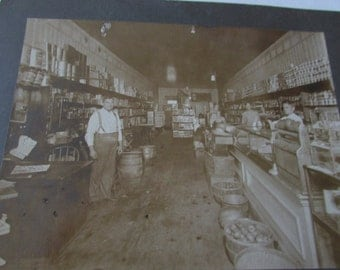 Vintage General Store Cabinet Photo Grocery Store Photograph