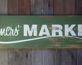 Rustic Farmers' Market Wood Sign