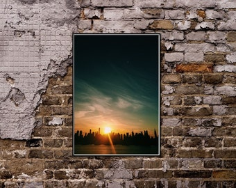 New York Sunset Print