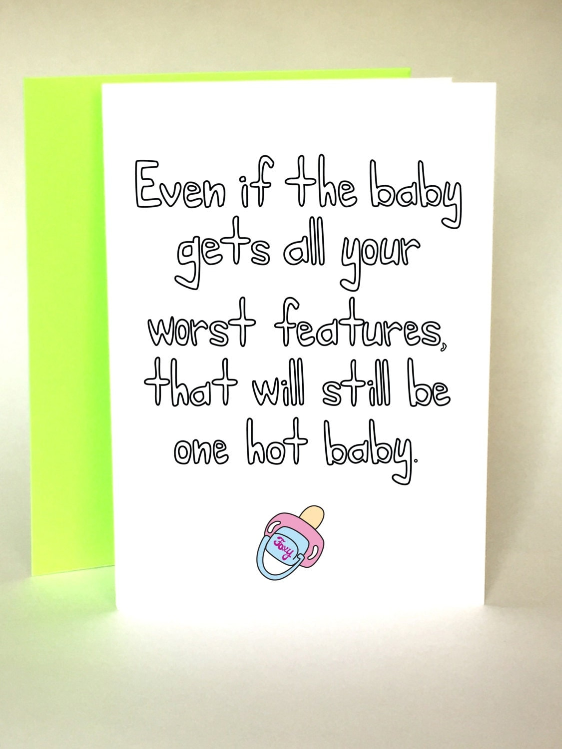 Funny Baby Shower Card, New Baby, New Baby Card, Baby Shower Card,