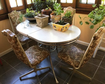 4 Kitchen Chairs Dining Chairs Mid Century Chair Vinyl Chairs Retro Chairs  Vintage Kitchen Retro Kitchen
