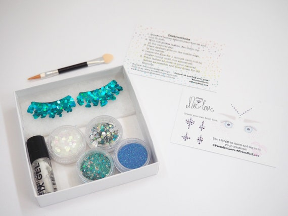 Blue Mermaid Cosmetic Glitter Face Pack
