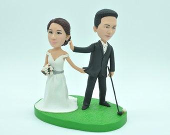 Customized cake topper, Wedding Golf Cake Topper , wedding topper, wedding toppers cake toppers wedding laptop cake topper Custom bobblehead