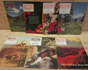 Lot of 7 Arizona Highways Magazines Vintage Issues Years 1965, 1966 and 1969