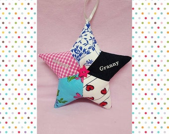 Memory star,Made from your babies clothes,Keepsake Star