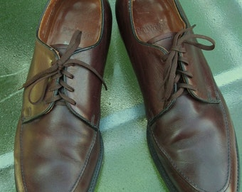Mens Vintage 60's,Uber Mod,Burgundy Colored MAD MEN Leather OXFORDS By E.T.Wright.12C