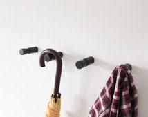 Set of 4 Wall Hooks / minimalistic hangers /  ash wood