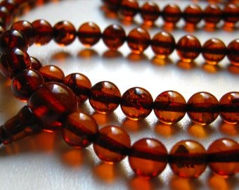 5 cherry - 108 baltic amber mala for meditation for meditation (size Ø6 colour 5), buddhist meditation, guru bead, 108 bead mala
