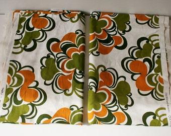 Rare FINLAYSON Finland fabric / Retro fabric by Pirkko Hammarberg TARU 1968 Finnish Cotton Fabric / Scandinavian Designer Fabric / Set of 2