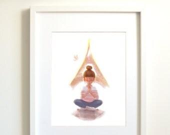 Paris | Paris print | Eiffel Tower | France | wall decor | Peace images | Meditation | zen wall art | zen decor | zen art | poster | print