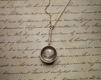 Miniature Frying Pan Necklace in Sterling Silver