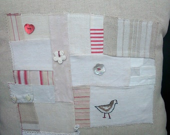 Cushion with Vintage Patchwork