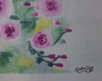 Roses in Bloom, Framed Original Art