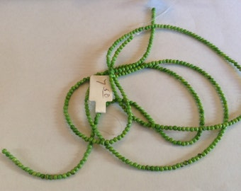 2mm dyed howlite green beads