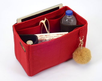 Delux Bag Purse Organizer with Dual Red / Brown  Color for Louis Vuitton Bags, Bag insert for Louis Vuitton (Express Shipping)
