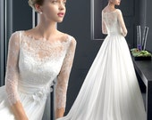 Handmade wedding dress/New White Lace Bridal Gown Wedding Dress Size