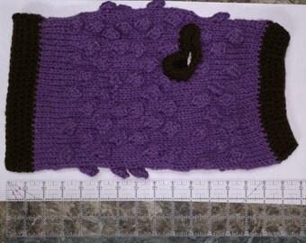 Medium Bobble Knit Dog Sweater Knitting Pattern