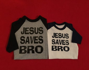 Jesus Saves Bro Jesus Bro Raglan Black And White