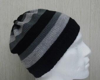 knitted beanie for men, mens winter hats, knit beanie, warm hat for men, gift idea for boyfriend, CHOOSE SIZE