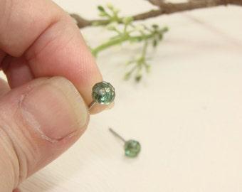Green Swarovski Crystal stainless steel stud earrings, Wedding Bridal, Bridesmaid,Jewelry,gift, under25