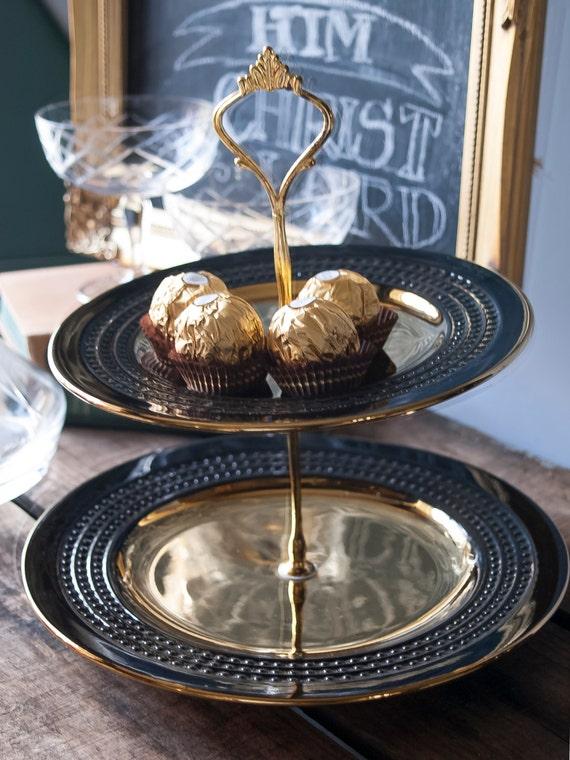 Art Deco Christmas Cake : Art Deco 2 Tier Cake Stand Vintage Cake Plate Cupcake