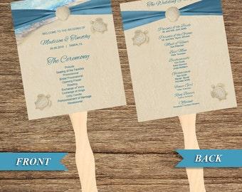 Beach Fan and Wedding Program BCH-06-FP-Digital Download
