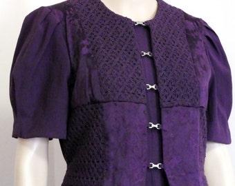Miss Dorby petites dress size 6 P  color deep purple mint condition.