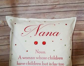 Glam-Ma pillow, Nana pillow, Grandma pillow, personalized pillow,  accent pillow, glamma, glam-ma