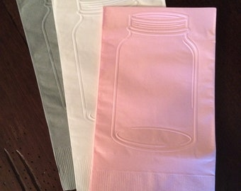 guest towel napkins mason jar napkin dinner napkin wedding napkins bridal shower