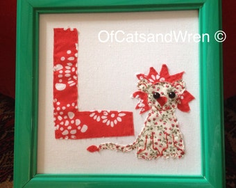 Patchwork Animal Initial/Letter - 'L is for Lion'