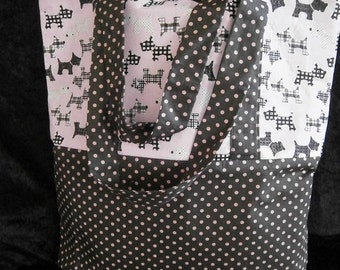 Spot and Scottie Dog Pink and Brown Tote Bag