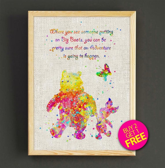 Winnie The Pooh Quote Art: Winnie The Pooh Watercolor Art Print Disney Quote By Star2Go