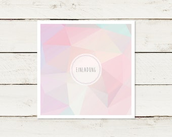 Wedding invitation | Square | Polygon