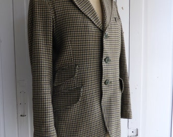 "Vintage mens Windsor Riding Jacket wool blend dogtooth hacking jacket size M (38"" chest)"