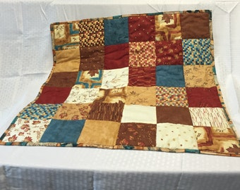 Rustic Southwestern Fall Charm Square Quilt Table Topper Chair Scarf Pet Quilted Blanket/Bed Home Decor