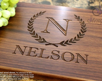 Personalized Engraved Cutting Board Wedding Gift