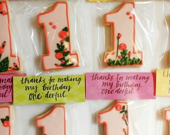 Customized 1st Birthday Cookies_Onederful by the Dozen
