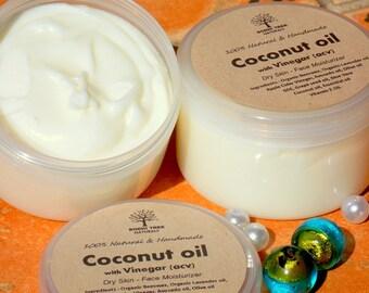 Dry skin Face Cream - Coconut oil Face cream  - Natural Face moisturizer - Dry Skin Face - Hydrating Face - Day Cream - Dry skin Cream(4oz)