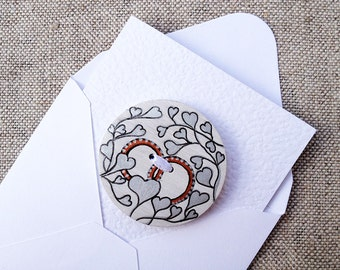 Wedding card Engagement card Wedding greeting Getting married card Marriage card Congratulations card Wedding rings and silver hearts