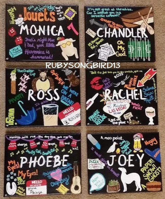 Set of 6 hand painted acrylic 8x10 canvases monica for Craft shows on tv
