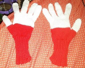 Winter gloves flag Poland for teenager
