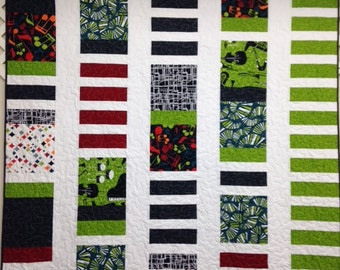 Music themed quilt, handmade quilt, contemporary quilt