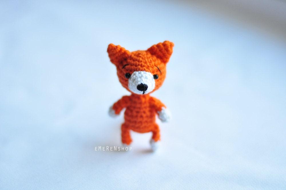 Amigurumi fox miniature fox stuffed animal Cute red fox