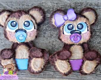 Scrapbook Embellishment, Baby Monkey Embellishment, Tear Bears, Paper Piecing, Monkey decoration, Scrapbook Supplies, Paper Piecing #LTBK