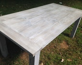 Free Delivery!!!  Custom Whitewashed Farm Table Up To 9' Length!!!
