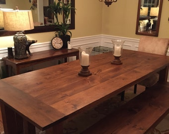 Custom Early American Farmhouse Table Up To 9 Length