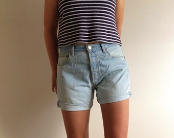 Levi's High Waisted Denim Shorts, Fit AUS Size 12
