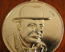 Vintage Winston Churchill Keychain.